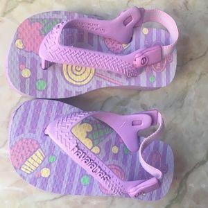 Havaianas Baby Chic Flip Flops Lollipop and Cupcak